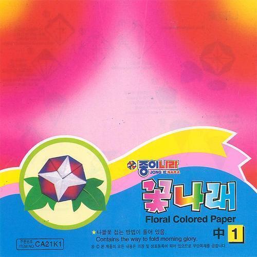 아이윙스 1000 종이나라 꽃나래-중-1 색종이 종이접기