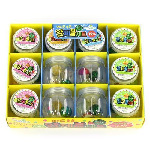 아이윙스 1000 얌체공 통통튀는 얌체볼세트 12개입 어린이 단체선물