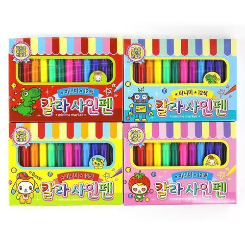아이윙스 1000 미니미 12색 칼라사인펜 어린이 단체선물