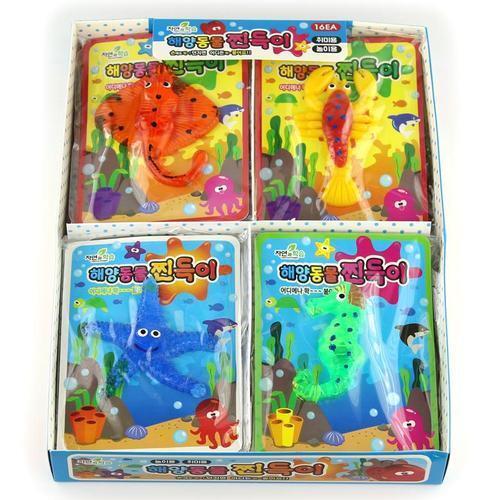 아이윙스 1000 쫙붙는 해양동물 찐득이 16개입 어린이 단체선물