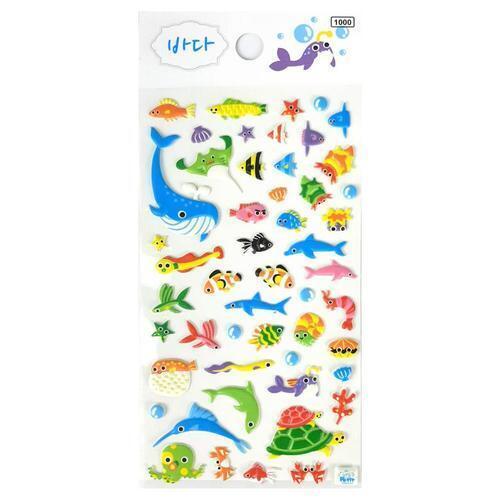 아이윙스 1000 바다 해양동물 입체스티커