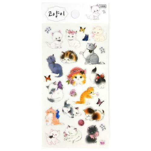 아이윙스 1000 고양이 캐릭터 스티커